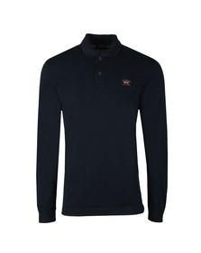 Paul & Shark Mens Blue Long Sleeve Polo Shirt