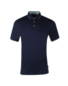 Ted Baker Mens Blue Pug SS Stripe Detail Polo