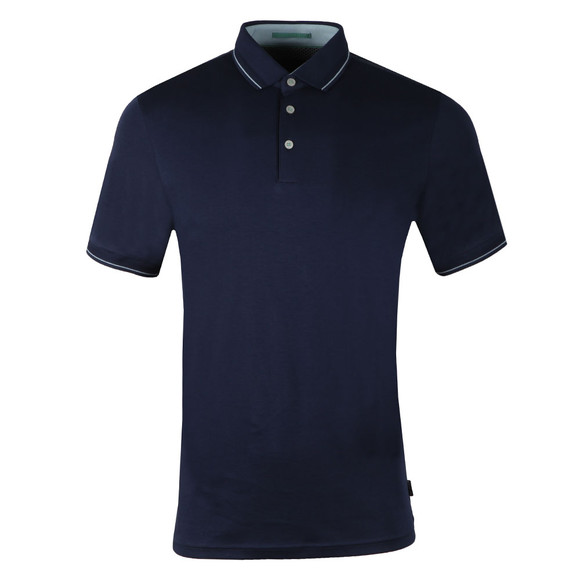 Ted Baker Mens Blue Pug SS Stripe Detail Polo main image