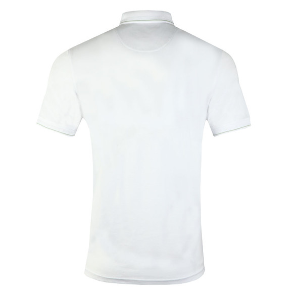 Ted Baker Mens White Pug SS Stripe Detail Polo main image