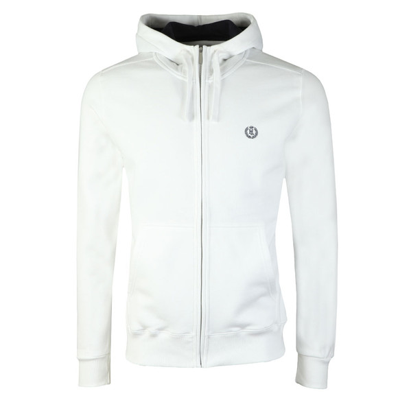 Henri Lloyd Mens White Bredgar Full Zip Hooded Sweat main image