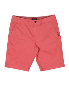 Superdry Mens Pink International Chino Short