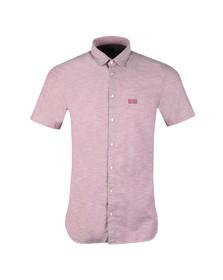 Boss Orange Mens Purple Cattitude 1 Short Sleeve Shirt