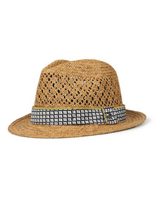 Ted Baker Mens Beige Natural Straw Hat