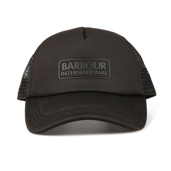 Barbour International Mens Black Heli Trucker Cap main image