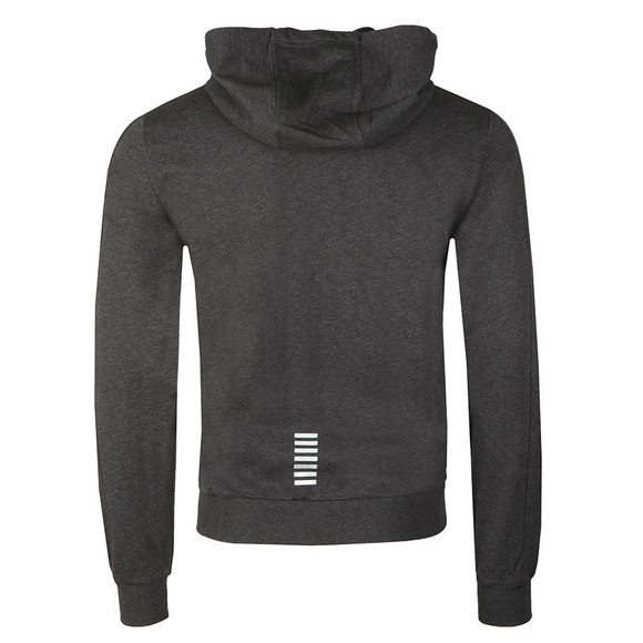 EA7 Emporio Armani Mens Grey Metallic Small Logo Full Zip Hoody main image