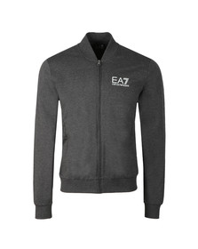 EA7 Emporio Armani Mens Grey Full Zip Bomber Sweat