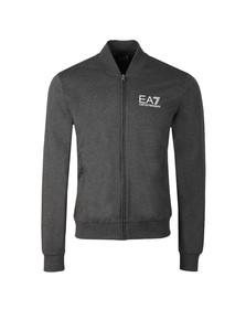 EA7 Emporio Armani Mens Grey Full Zip Bomber Sweat