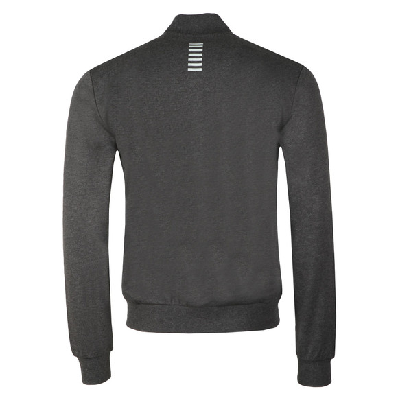 EA7 Emporio Armani Mens Grey Full Zip Bomber Sweat main image