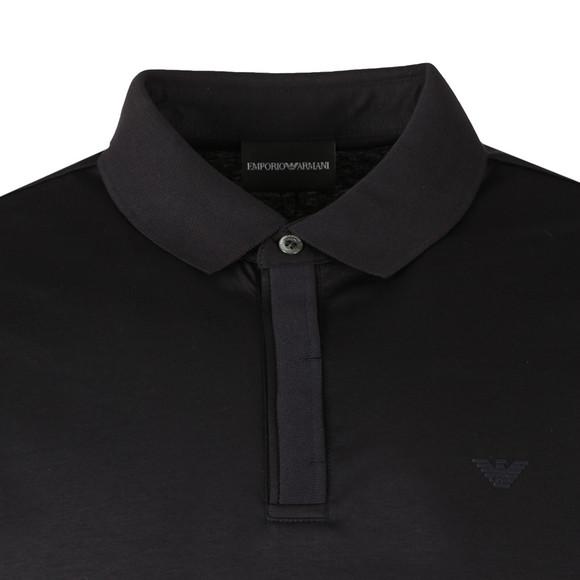 Emporio Armani Mens Blue 3Z1F62 Jersey Polo Shirt main image