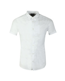 Emporio Armani Mens White Stretch Short Sleeve Shirt