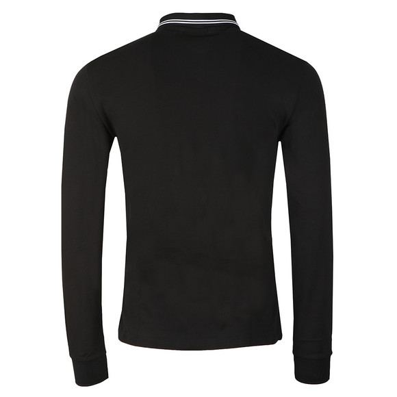 Emporio Armani Mens Black 8N1F36 Tipped Long Sleeve Polo main image