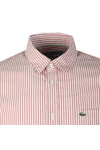 Lacoste Mens Red CH5382 L/S Stripe Shirt