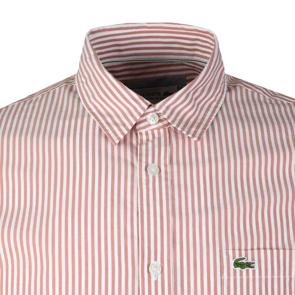 Lacoste Mens Red CH5382 L/S Stripe Shirt main image