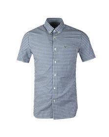 Lacoste Mens Blue S/S CH9608 Check Shirt