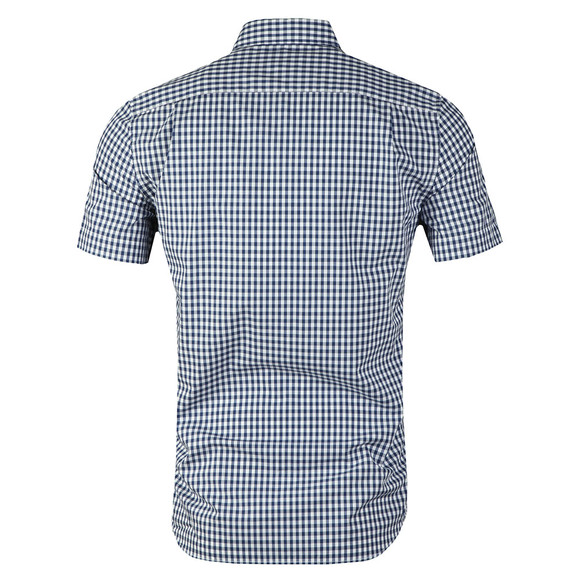 Lacoste Mens Blue S/S CH9608 Check Shirt main image