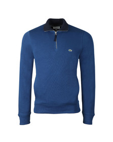 Lacoste Mens Blue SH3229 1/2 Zip Sweat