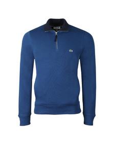 Lacoste Mens Blue SH3229 1/2 Zip Sweat