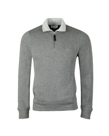 Lacoste Mens Grey SH3229 1/2 Zip Sweat