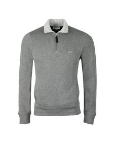 Lacoste Mens Grey SH3229 1/2 Zip Sweat