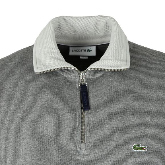 Lacoste Mens Grey SH3229 1/2 Zip Sweat main image