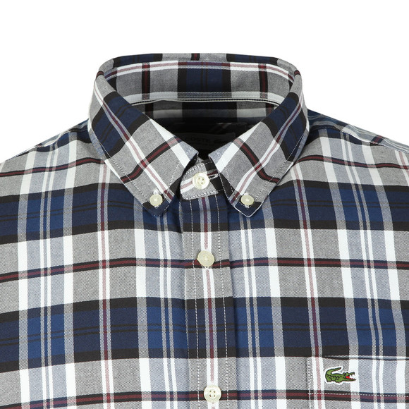 Lacoste Mens Blue S/S CH7261 Check Shirt main image
