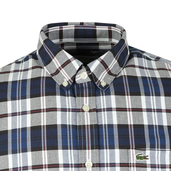 Lacoste Mens Blue S/S CH7261 Check Shirt