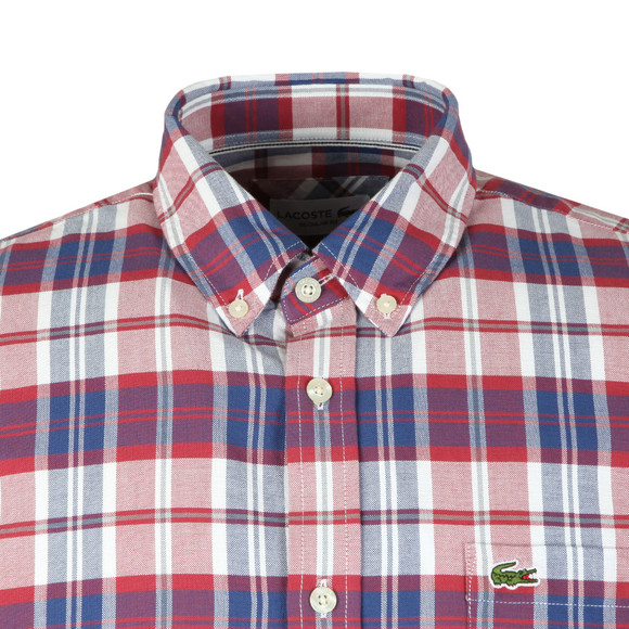 Lacoste Mens Multicoloured S/S CH7261 Check Shirt main image