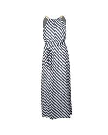 Michael Kors Womens Blue Chain Neck Maxi Dress
