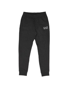 EA7 Emporio Armani Mens Grey Small Metallic Logo Joggers