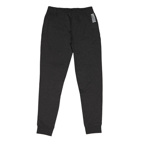 EA7 Emporio Armani Mens Grey Small Metallic Logo Joggers main image