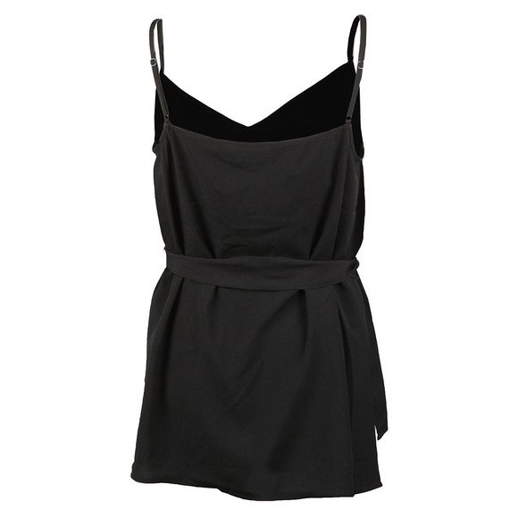French Connection Womens Black Dalma Crepe Strappy V Neck Top main image