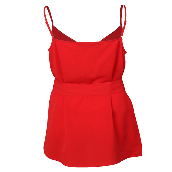 French Connection Womens Red Dalma Crepe Strappy V Neck Top main image