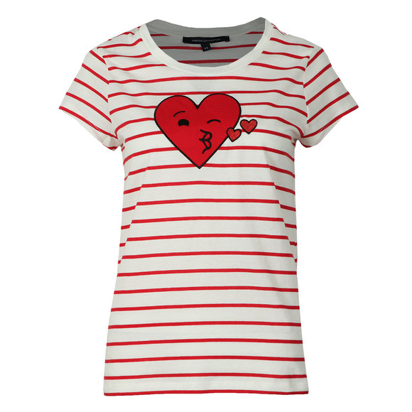 French Connection Womens White Heart Crew Neck Tee main image