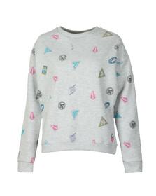 Superdry Womens Grey Miami Printed Sweatshirt