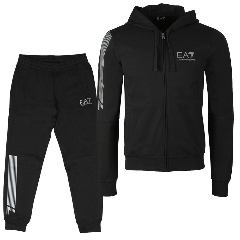 0319e0576b6 EA7 Emporio Armani Reflective Logo Full Zip Tracksuit