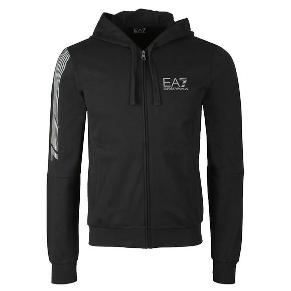 EA7 Emporio Armani Mens Black Reflective Logo Full Zip Tracksuit main image