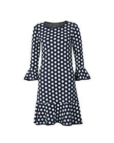 Michael Kors Womens Blue Simple Dot Elev Dress