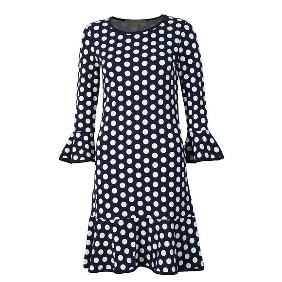 Michael Kors Womens Blue Simple Dot Elev Dress main image