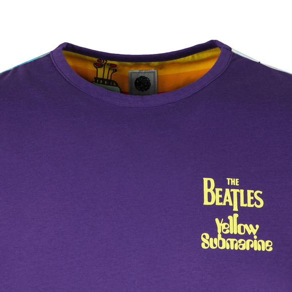 Pretty Green X Beatles Mens Purple S/S Beatles Meanie Tee main image
