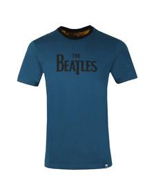 Pretty Green X Beatles Mens Blue S/S Beatles Print Tee