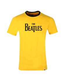 Pretty Green X Beatles Mens Yellow S/S Beatles Print Tee