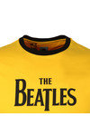 Pretty Green X Beatles Mens Yellow S/S Beatles Print Tee
