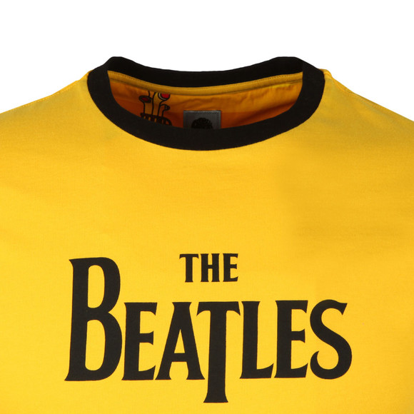 Pretty Green X Beatles Mens Yellow S/S Beatles Print Tee main image