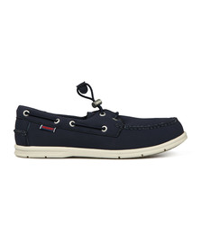 Sebago Mens Blue Litesides Two Eyelet Neoprene Boat Shoe
