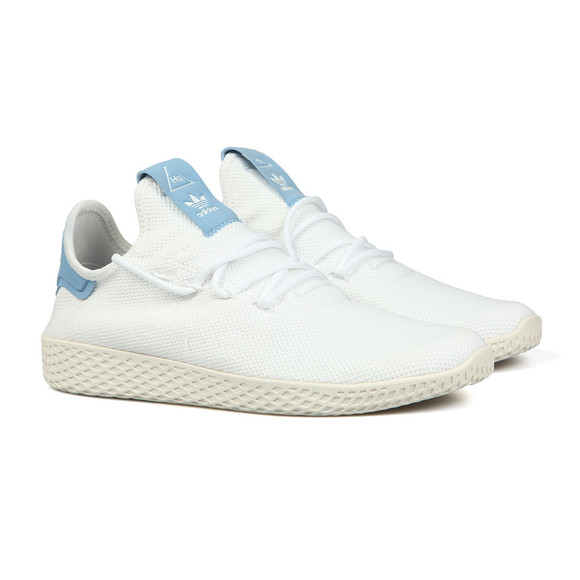 Adidas Originals Mens White Pharrell Williams Tennis HU Trainer main image