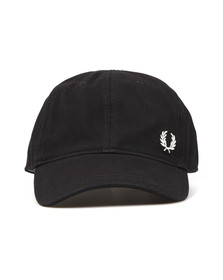 Fred Perry Mens Black Pique Classic Cap