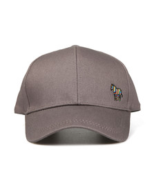 PS Paul Smith Mens Grey Baseball Zebra Cap