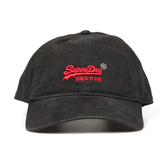 Superdry Mens Black Orange Label Cap main image