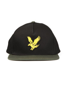 Lyle and Scott Mens Black Colour Block Cap